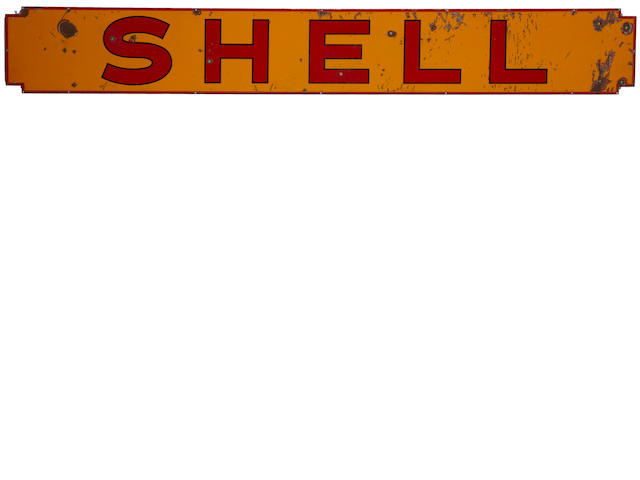 A Shell Gasoline sign, c.30s,