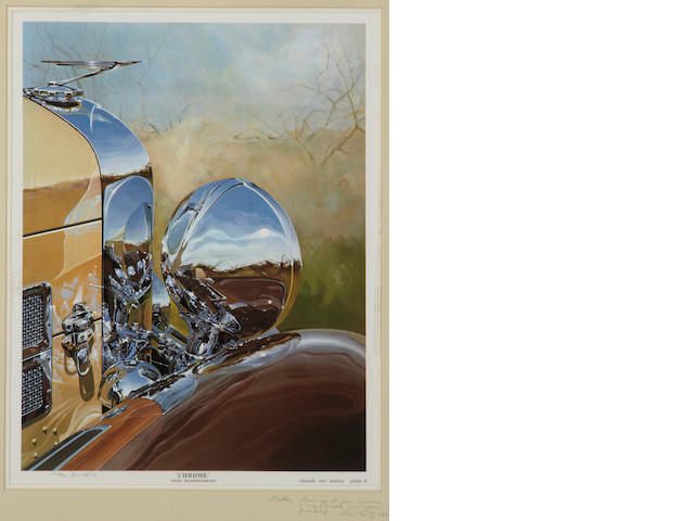 Tom Hale 'Chrome' 1938 Duesenberg, print,
