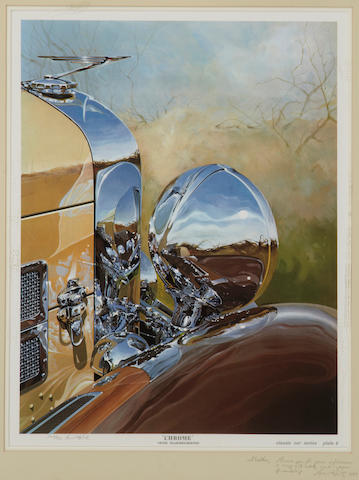 Tom Hale 'Chrome' 1938 Duesenberg, print,