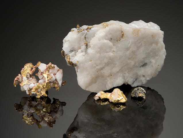 Four Small Gold-in-Quartz Specimens