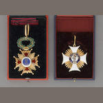A lot of two cased decorations awarded to Imperial Russian diplomat