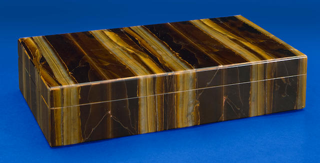 Tigers Eye Intarsia Box