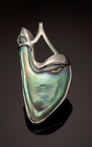 Abalone Pearl Pendant