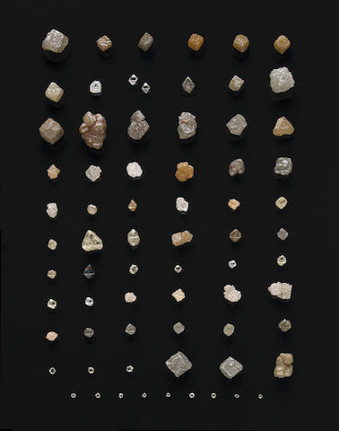 Collection of Rough Diamond Crystals