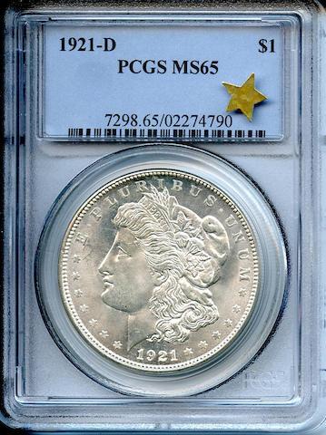 1921-D $1 MS65 PCGS