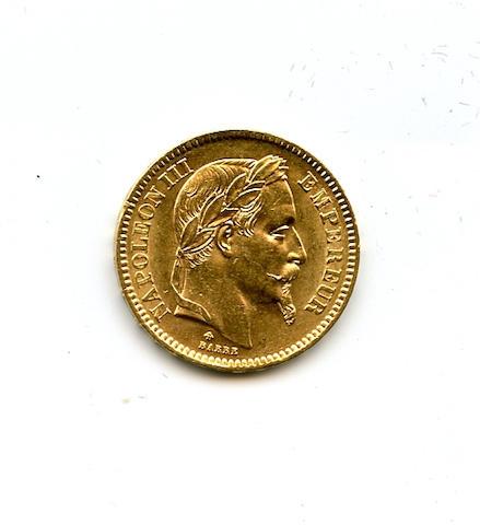 France, 20 Francs, 1865