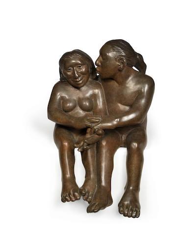 A Roxanne Swentzell bronze