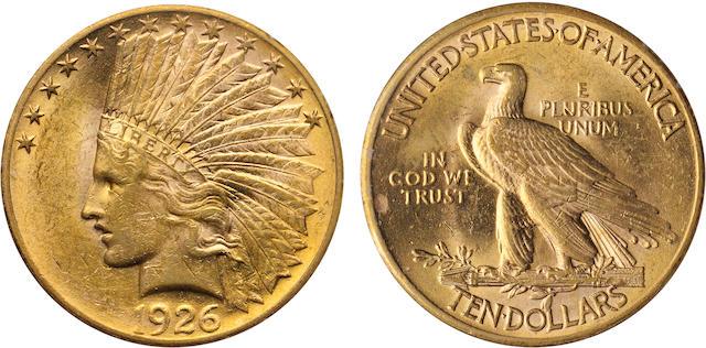 1926 $10 MS60 PCGS