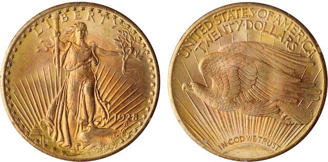 1928 $20 MS64 PCGS