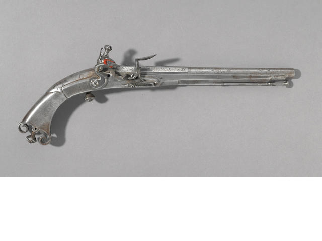 A all-steel Scottish flintlock pistol by John Campbell