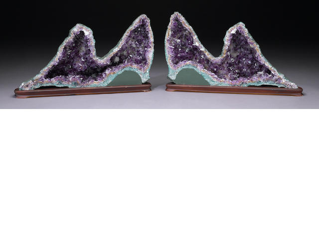 Pair of Amethyst Geodes