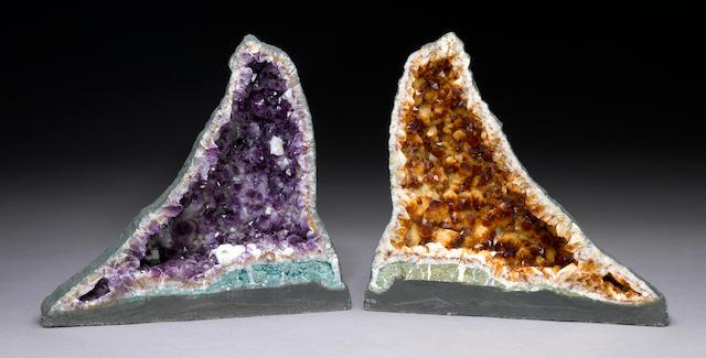 Citrine & Amethyst Geode