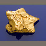 Starfish Shaped Gold Nugget, Wedderburn, Victoria 254.8gm (8.19 oz.)