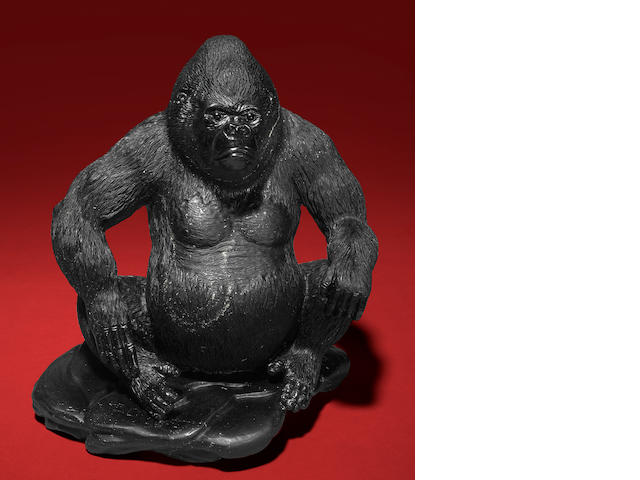 Black Obsidian Gorilla Carving