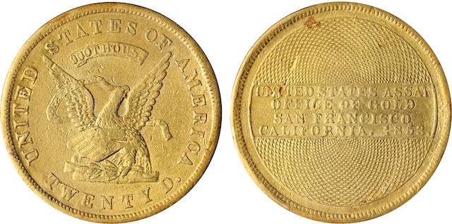 1853 U.S. Assay $20 900 THOUS