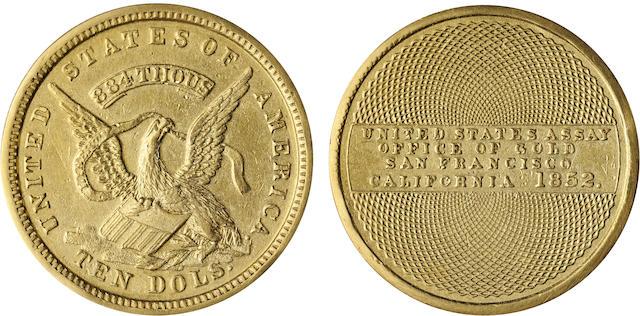 1852 U.S. Assay $10