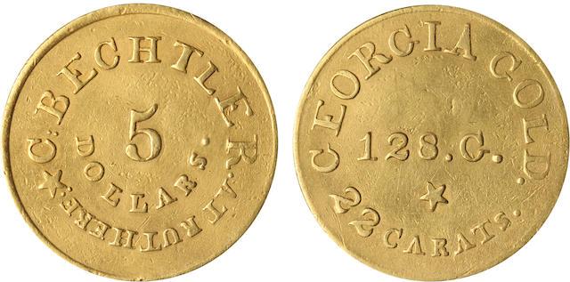 (1837-1842) C. Bechtler $5 RUTHERF