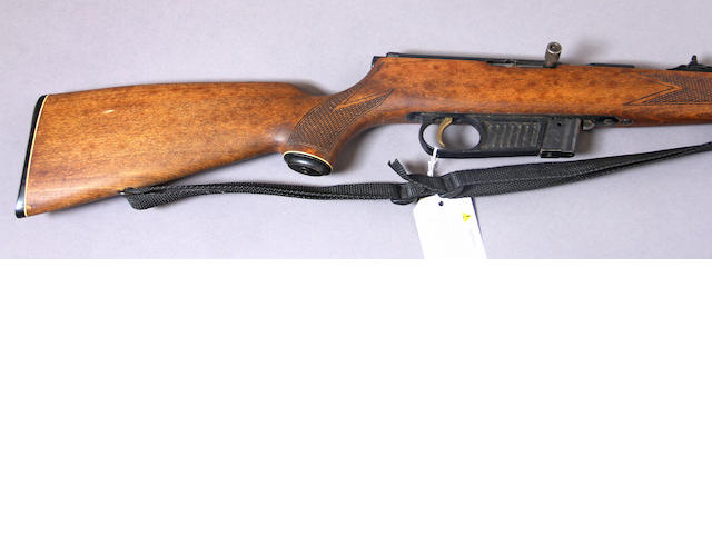 A .22 caliber Voere Model 2115 semi-automatic rifle