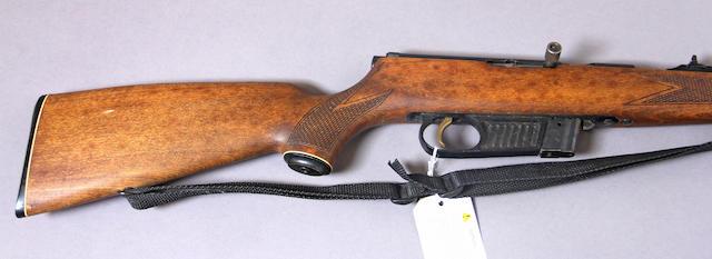 A .22 caliber Voere Model 2115 semi-automatic rifle