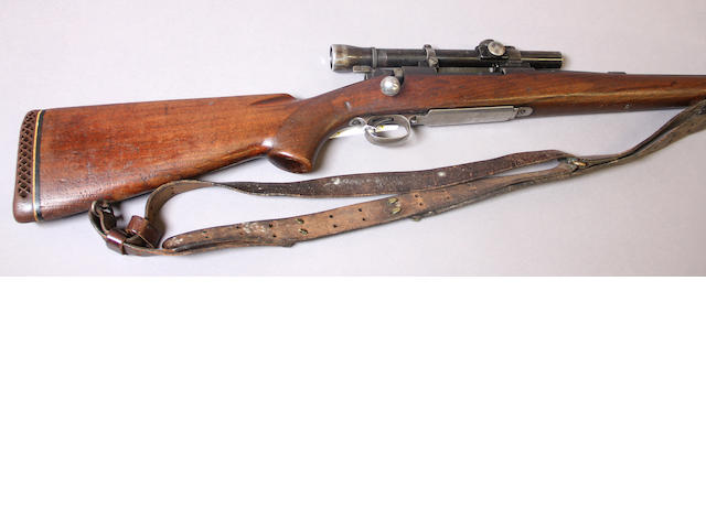 A .257 Roberts Winchester Model 70 bolt action rifle