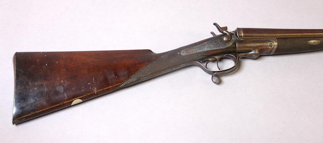 A 12 gauge English underlever hammer shotgun by William Watson & Son