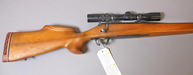 A .358 Norma Shultz & Larsen Model 65DL bolt action rifle