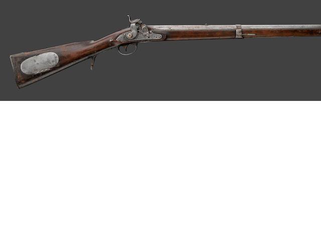 A U.S. Model 1817 percussion conversion 'common' rifle by Simeon North