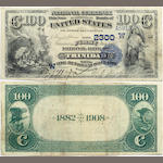 "Fr. 568, 1882 $100 ""Date Back"" National Bank Note, Trinidad, Colorado, Ch. # 2300"