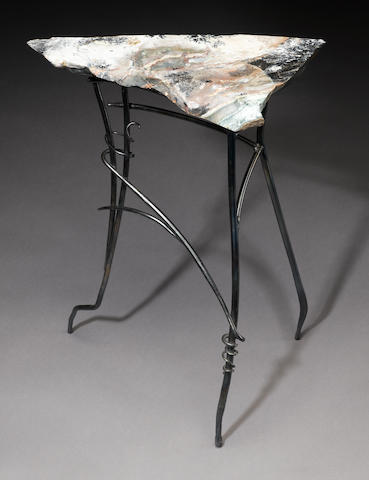 Jasper + Hand Forged Steel Table by Rick Gregg