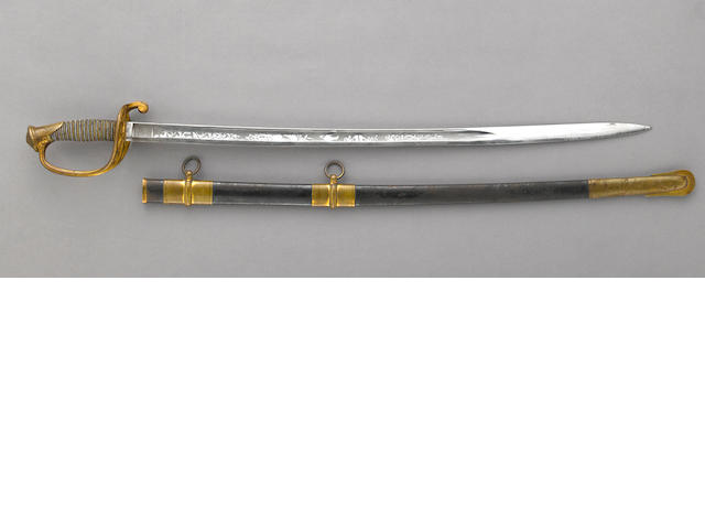 A U.S. Model 1850 foot officer's sword by Ames Mfg. Co.