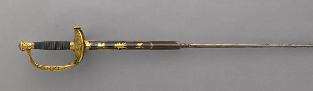 An unusual U.S. Model 1860 staff officer's sword of French manufacture