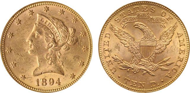 1894 $10 MS61 PCGS