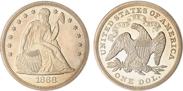 1868 $1 Proof