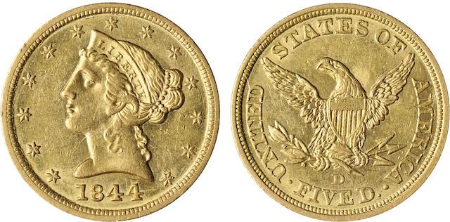 1844-D $5