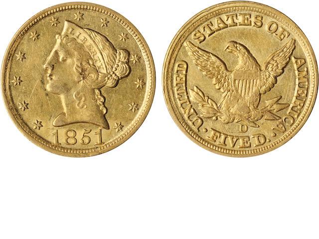 1851-D $5