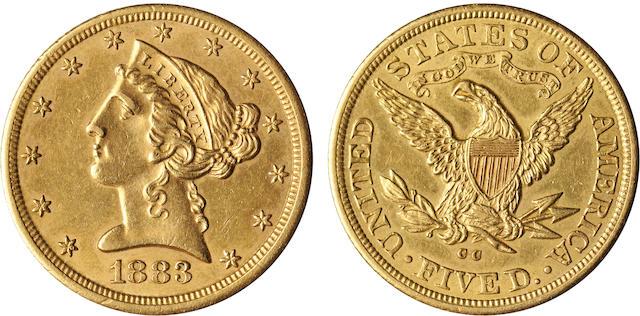 1883-CC $5