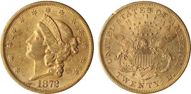 1872-S $20