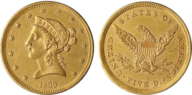 1839 Liberty $5