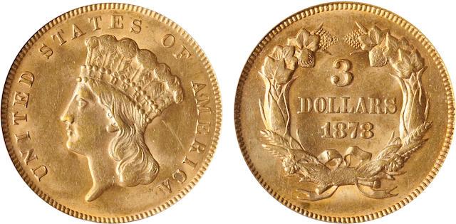 1878 $3 MS62 PCGS