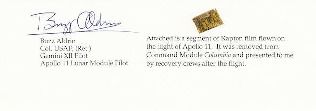 FLOWN APOLLO 11 COMMAND MODULE KAPTON. Segment of Kapton,