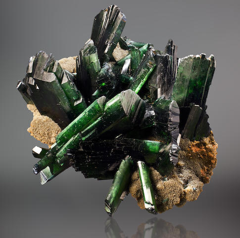 Large and Impressive Vivianite on Siderite Matrix