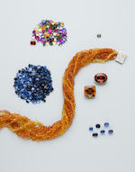 Fancy Colored Sapphire Torsade Necklace