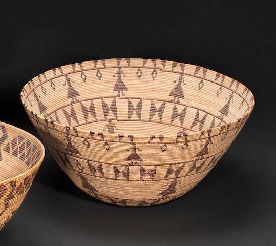 A Yokut polychrome basket