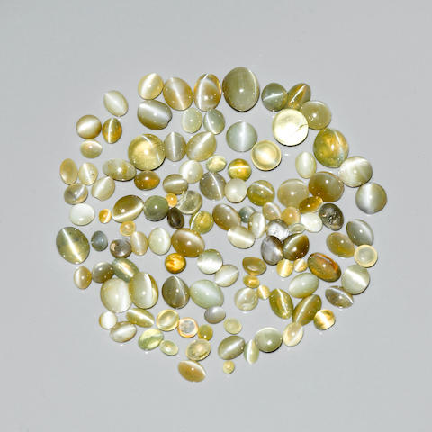 Group of Cat's Eye Chrysoberyls