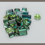 Group of Indicolites and Green Tourmalines