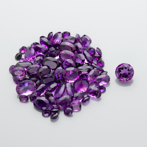 Large Group of Amethysts