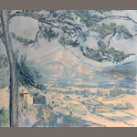 After Paul Cézanne (French, 1839-1906); by Jacques Villion La Montagne Sainte-Victoire;