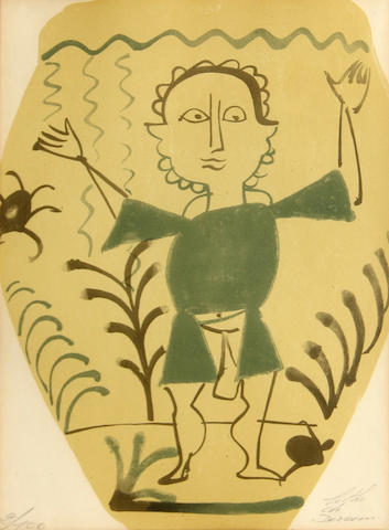 After André Derain; Untitled (Man underwater);