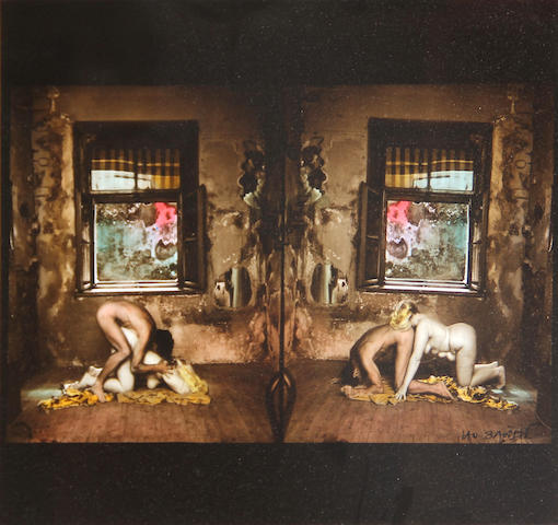 Jan Saudek (Czech, born 1935); Untitled (Johnnie & Frannie);