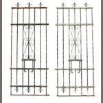 A set of eleven wrought iron gate sections